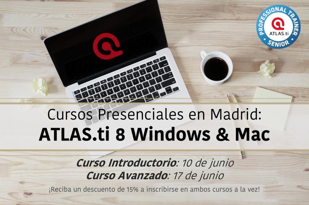 Cursos presenciales de ATLAS.ti en Madrid en Junio