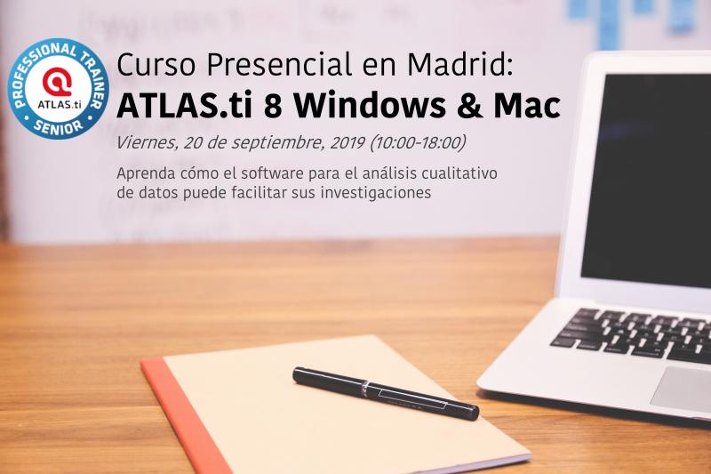 Curso presencial de ATLAS.ti en Madrid 20 de septiembre